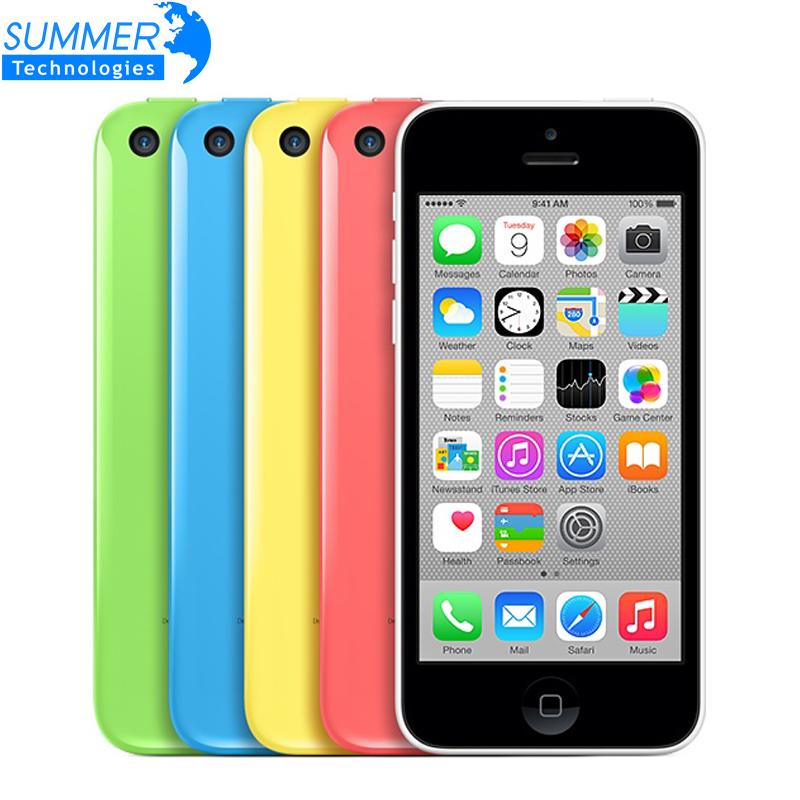 Original Unlocked Apple iPhone 5C Cell phones 16GB 32GB dual core WCDMA+WiFi+GPS 8MP Camera 4.0