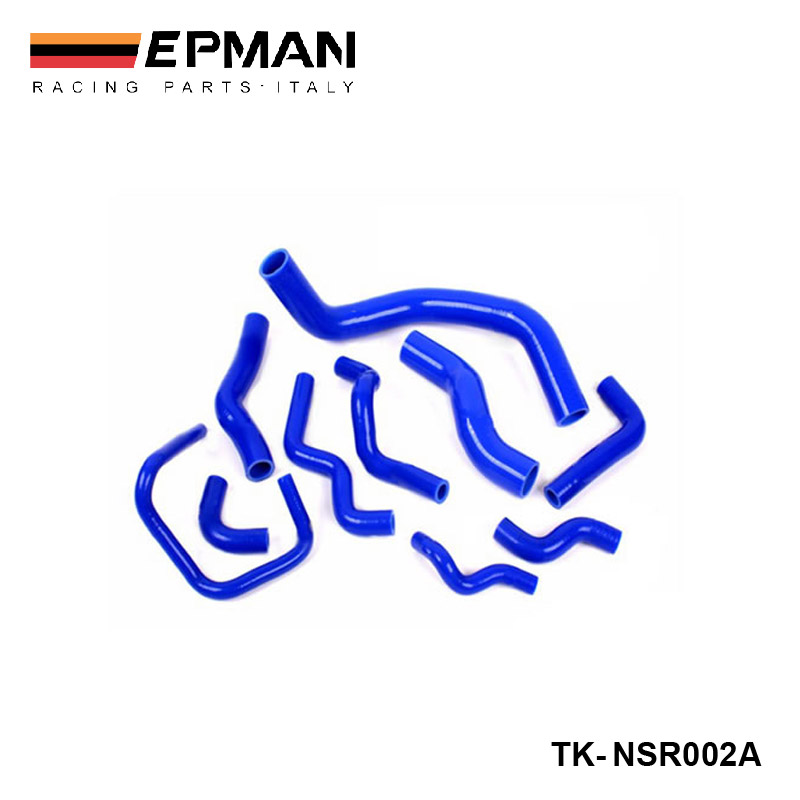 EPMAN-Racing Silicone turbo Heater And Radiator Hose Kit For Nissan Silvia S13 S14 S15 180SX 200SX SR20DET(10pcs) TK-NSR002A(China (Mainland))