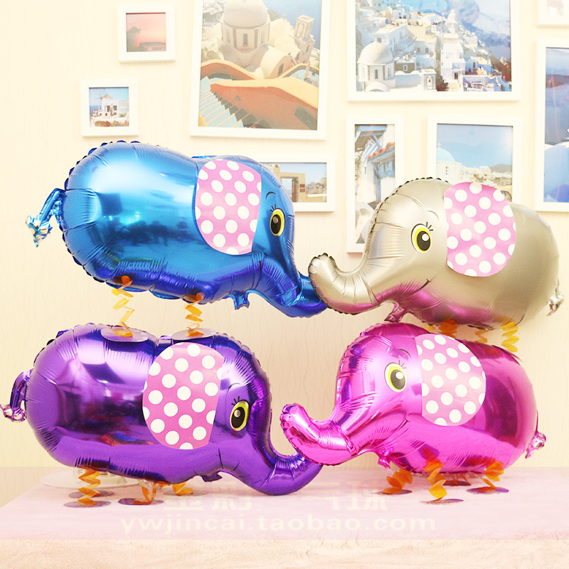 10pcs/lot Walking animal balloons walk elephant foil balloons kids cartoon pet balloon toy , 80*44cm helium balloon decor(China (Mainland))