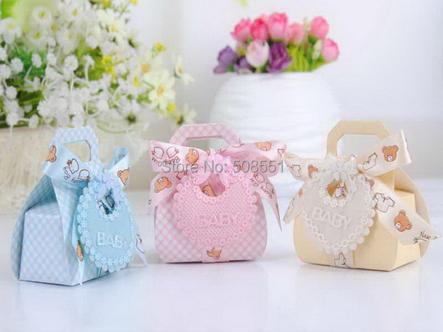 Paper Candy Boxes for Baby Shower Party, 12 pcs
