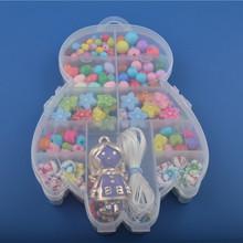 Happy DIY multicolor children beaded bracelet necklace Flower girl pendant Educational toys gifts DIY077(China (Mainland))