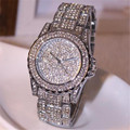 Luxury women watches rhinestone ceramic crystal Quartz watches FHD Watch Free shipping