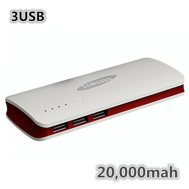 2015 3 USB зарядное устройство для SAMSUNG powerbank 20000 мАч внешняя батарея для xiaomi iPhone резервного питания включают оригинальный коробочный