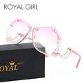 ROYAL GIRL Rimless Sunglasses Women Retro Square Oversized Summer Ombre Sun Glasses ss166