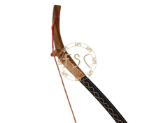 30lbs newly super quality red beech fiberglass recurve bow left or right hand longbow china horse