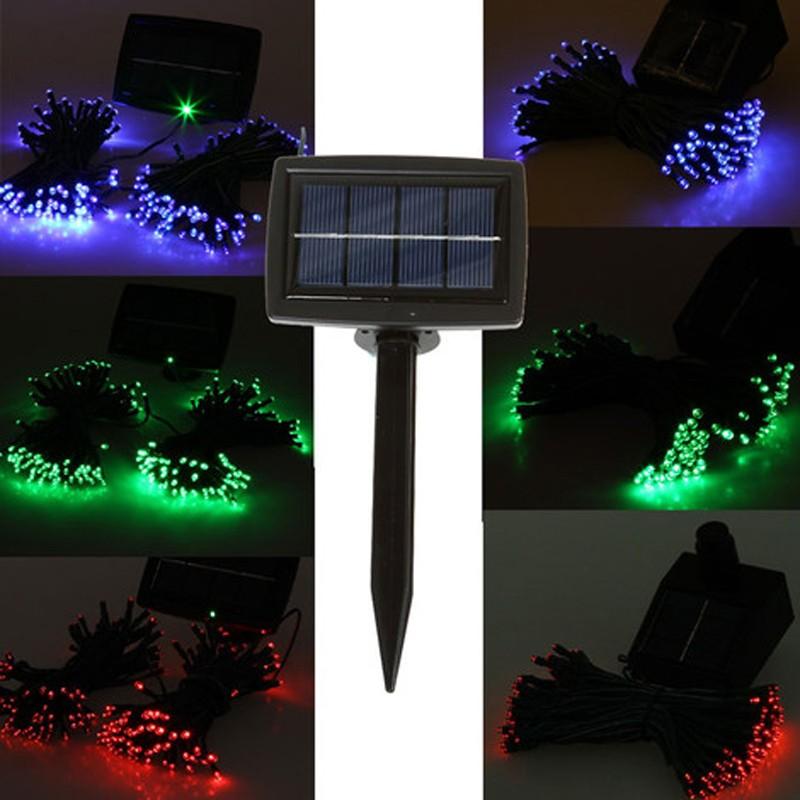 Led String Lights Outdoor Solar : 100 LEDS Solar Outdoor Light Waterproof Led String Fairy Automatic Garden Solar Powered Light ...