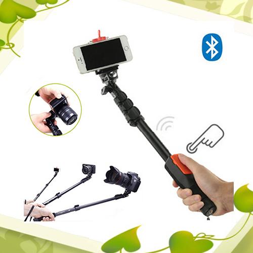 Hot YunTeng 1288 Portable Extendable Selfie Handheld Monopod Tripod with Bluetooth Remote Shutter For Camera Phone + Mini Tripod(China (Mainland))