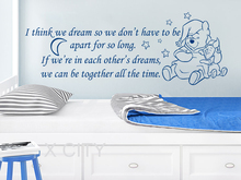 Buy Winnie Pooh Wall Decals Quotes Vinyl Sticker think dream Nursery Baby Room Kids Home Decor Bedroom Words Stencil for $7.49 in AliExpress store