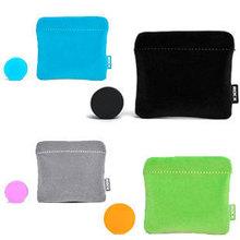 Rock for apple earphones mp3 earphones cable winder storage bag heatshrinked flannelet bag earring protective case(China (Mainland))
