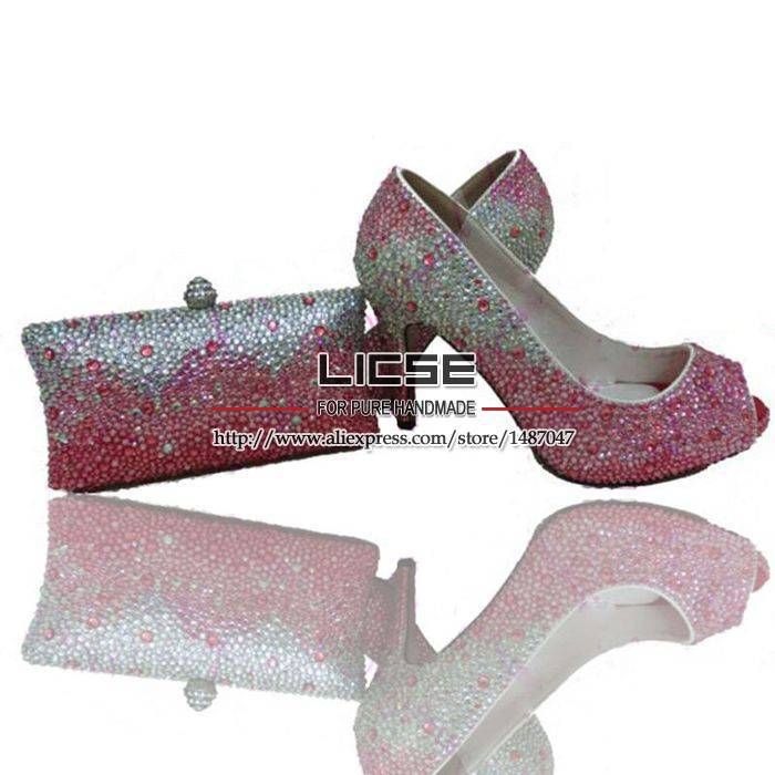 Pink Bling Wedding Shoes And Pink Wedding Shoes