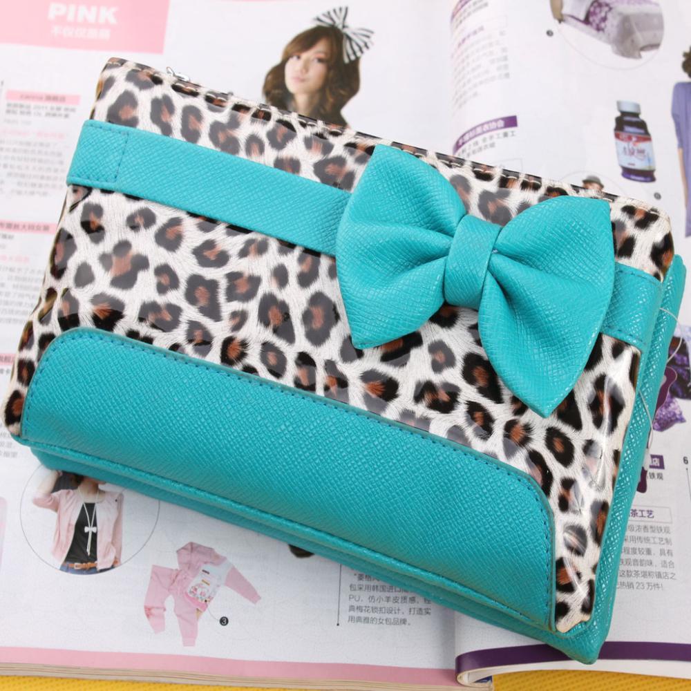 Free postage fashion animal bow ladies mobile phone bag multi-function PU leather shoulder bag/handbag(China (Mainland))