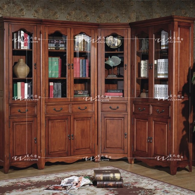mode biblioth que coin biblioth que am ricaine classique. Black Bedroom Furniture Sets. Home Design Ideas