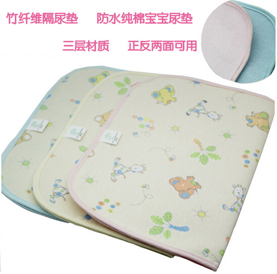 Bamboo fiber changing mat / waterproof cotton baby changing mat / changing mat three sides(China (Mainland))