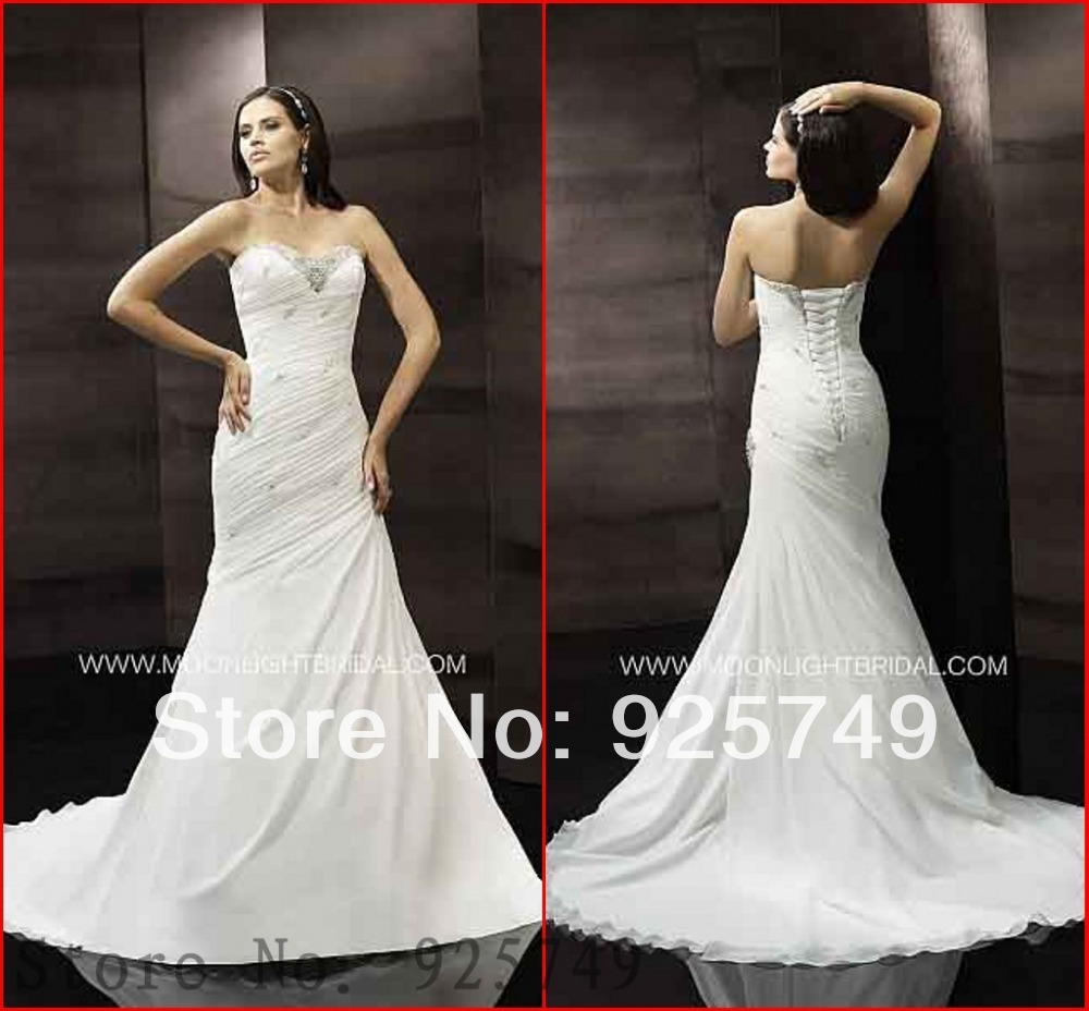 Fashion new arrival draped white chiffon fabric lace up for White lace fabric for wedding dresses