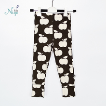 New 2015 autumn winter children's pants boys girls cotton print  thick warm elastic waist leggings kids casual pants for 12M-11T