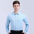 2016 New Men s Jacquard Dress Shirt Autumn Long Sleeve Breathable Stripe Slim Fitt Casual Camisas