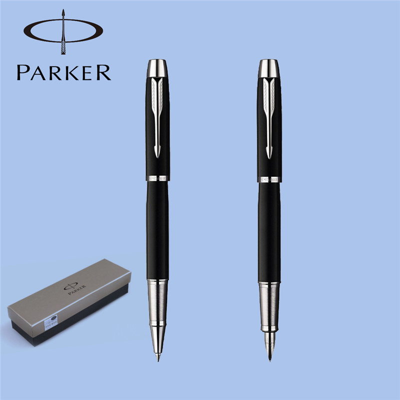 2pcs/lot Fountain Pen+Roller Ball Pen+Parker Original Box Stationery Parker Pen Parker IM Canetas Writing Supplies 13.8*1.2cm(China (Mainland))