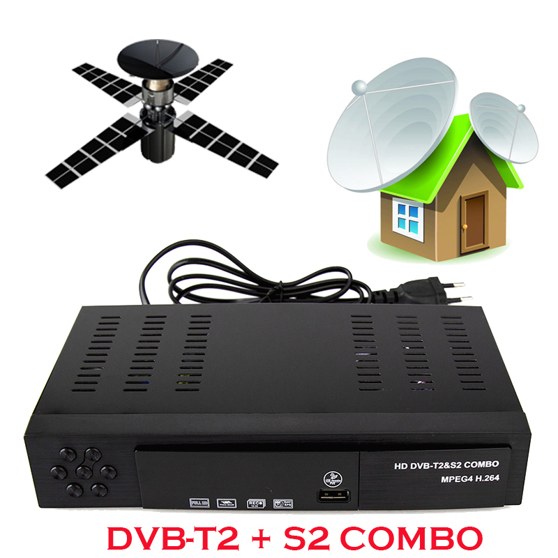 hoe sale Digital Satellite Receptor DVB T2+S2 TV Tuner Receivable MPEG4 DVB-T2 TV Receiver Tuner Support bisskey(China (Mainland))