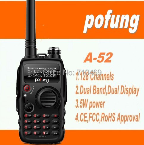 DHLFreeshippin+radio amador pofung/baofeng a52 mark II,uhf vhf transceiver,chipsets much advanced than baofeng uv-82 uv-5r uv-b5(China (Mainland))