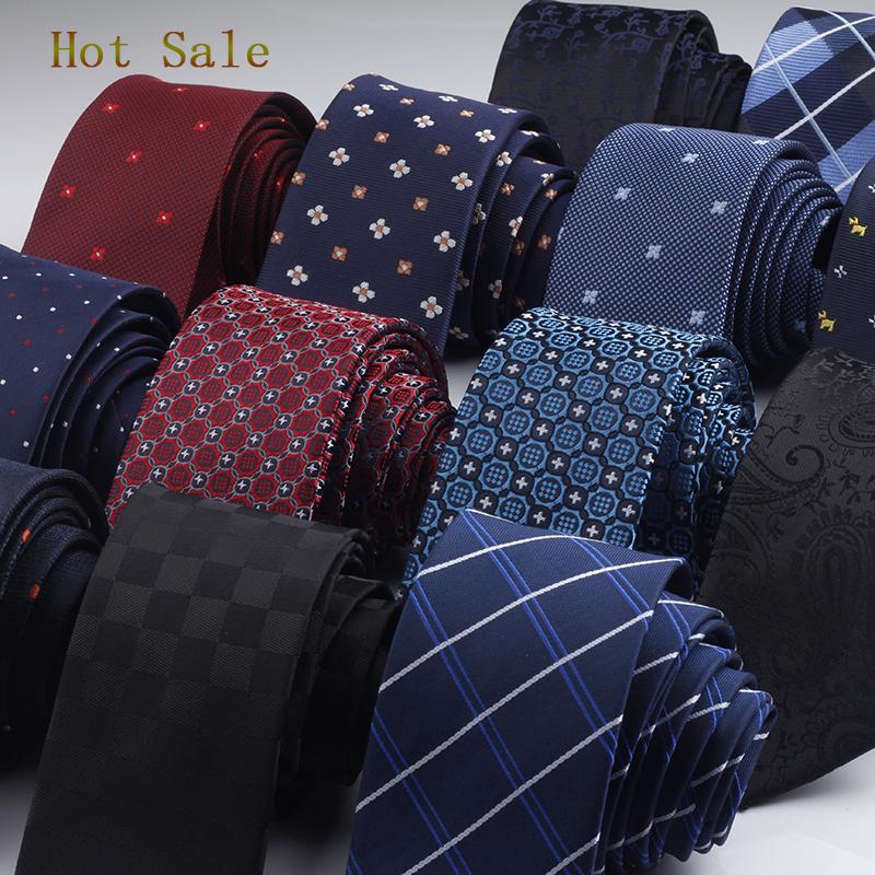 GUSLESON 960 Needles 6cm Men Neck Ties Fashion Dot Striped Plaid Necktie Gravata Slim Tie Classic Business Wedding Tie For Men(China (Mainland))