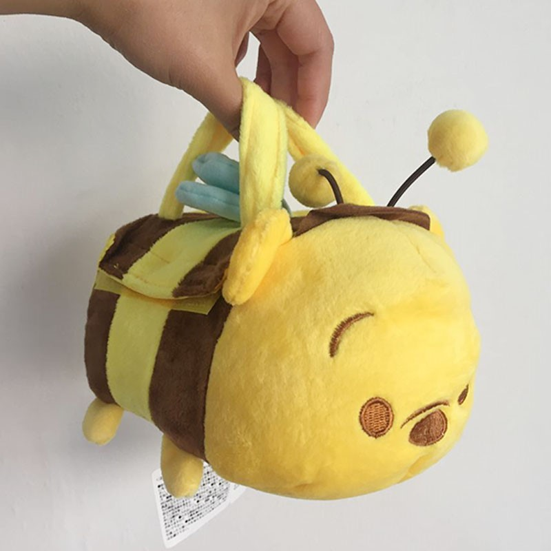 1pcs Original Tsum Tsum Plush Toys Winnie Honey Bee Pouch Bumble Bee Carrier Bags Piglet Eeyore Tigger Bear Soft Toys(China (Mainland))