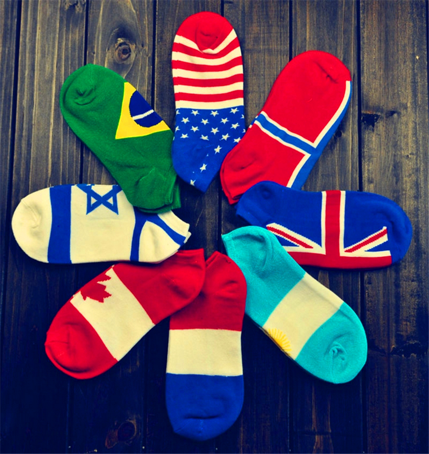 10 pairs / lot classic brand flag Men's meias cotton socks sports sock football basketball ankle hosiery sock spring calcetines(China (Mainland))