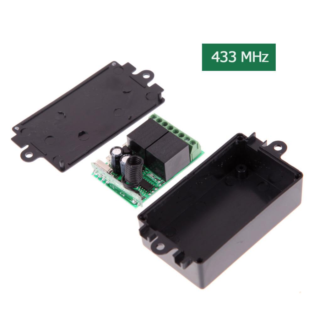 Гаджет   Practical AK-RK02S-DL DC 12V 433MHz Indepedent 2CH Remote Control Switch F#OS None Электротехническое оборудование и материалы