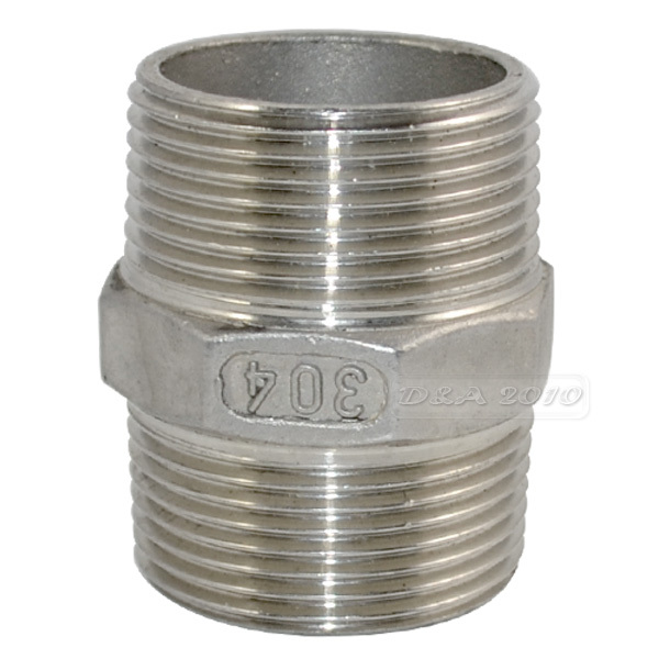 """Brand New 1-1/4""""Male x 1-1/4""""Male Hex Nipple Stainless Steel SS304 Threaded Pipe Fittings New High Quality(China (Mainland))"""