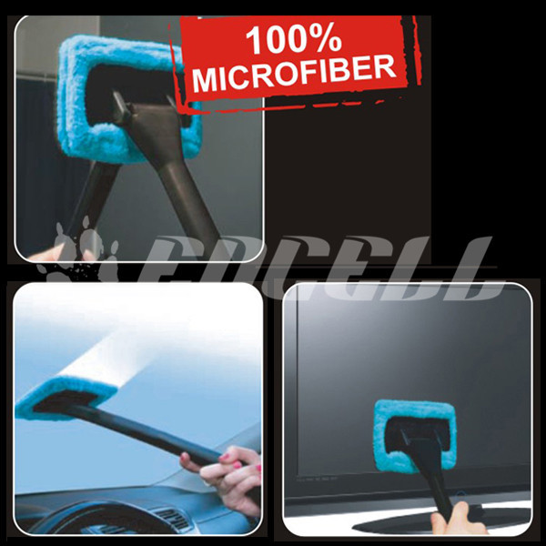 TS20 Car Styling Wash Brush Microfiber Cloth Windshield Wash Glass Wiper Cleaning Tool Sigma Brushes Window Cleaner with Handle(China (Mainland))