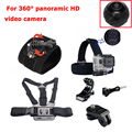 Action Camera Accessories Set with Camera Case For GoPro Hero4/3+/3 sj4000 sj5000 Xiaomi yi 4k Sony Gitup 2 Eken h9 360 Camera
