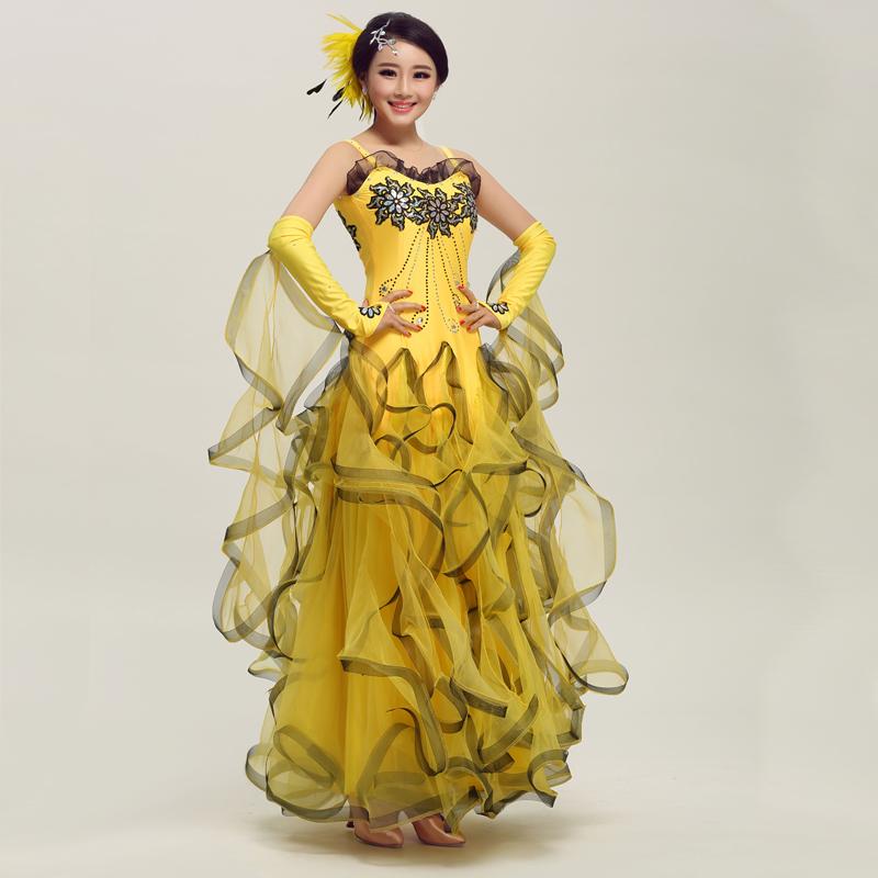 Big skirt new suit dress dance modern ballroom dance dress game dress