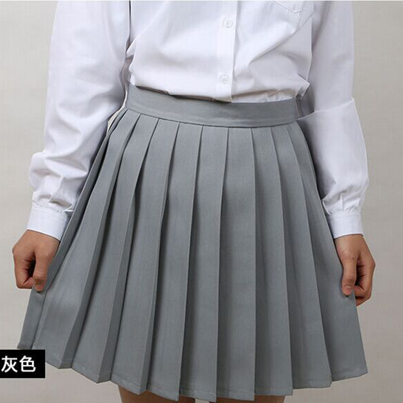 Japanese Fashion Vintage High Waist Pleated Skirts Nifty Macaron Ladies' MINI Skirts Plus Size Uniform Skirt Women tennis Skirt(China (Mainland))