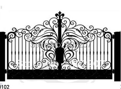 door garden iron gates, iron garden gates for sale,ornamental iron gates designs iron door(China (Mainland))