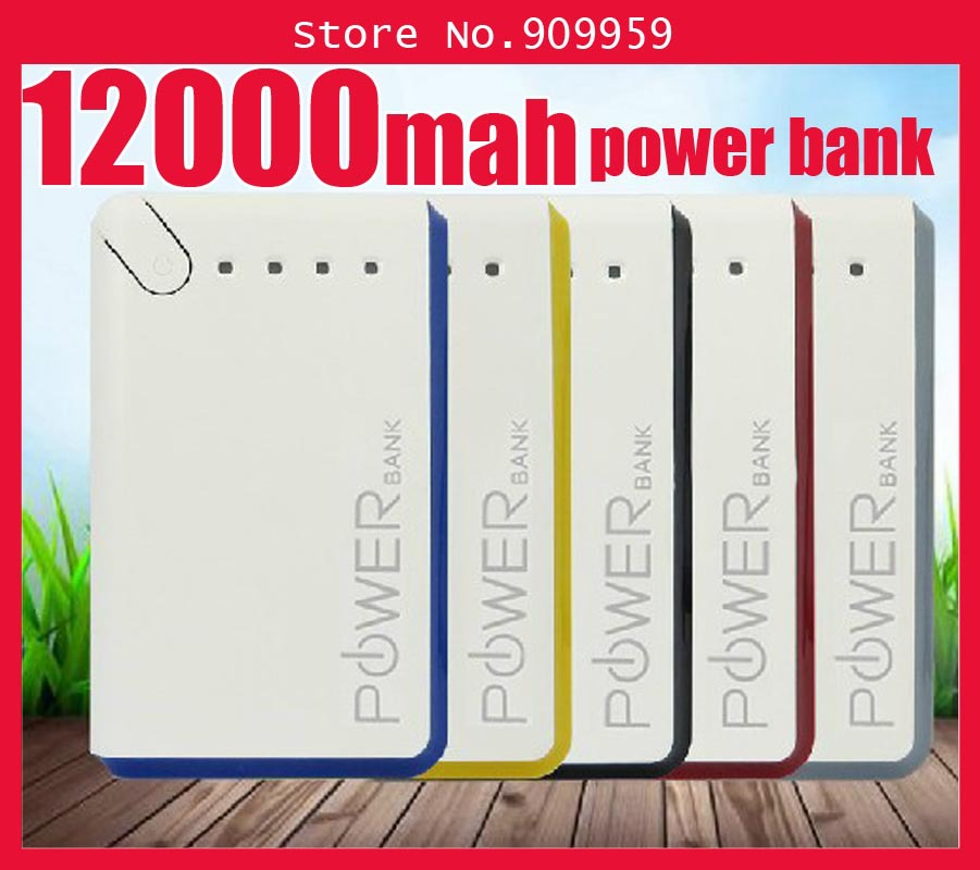 Authentic sanyo five battery12000mah mobile power supply general charging treasure power bank 12000mah(China (Mainland))
