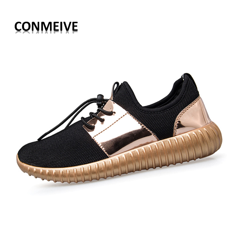Glossy Gold Men&women Casual Brand Shoes 2016 Summer Breathable Durable Outdoor Lace-Up Sapato Casuais Couple Superstar Air Mesh(China (Mainland))