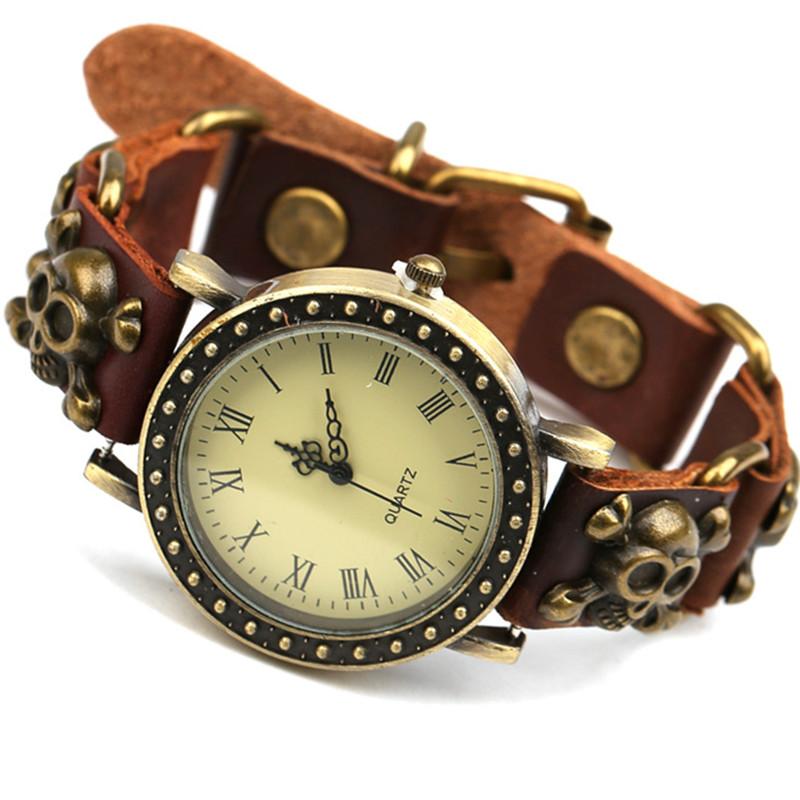 new unisex vintage genuine leather bracelet wrist