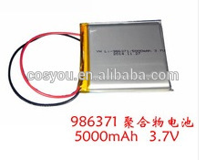 986371 3.7v 5000mah li polymer rechargeable ul listed tablet pc long battery life(China (Mainland))