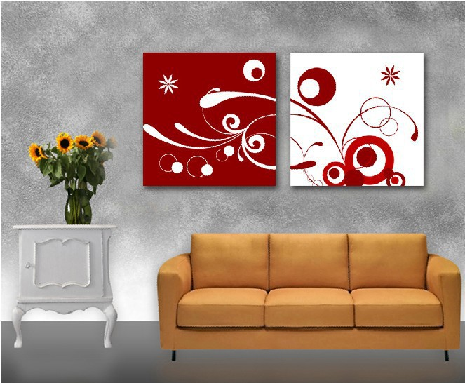 Free Shipping 2panels Hot Modern Simple Abstract Picture Decorative Canvas Painting Living Room