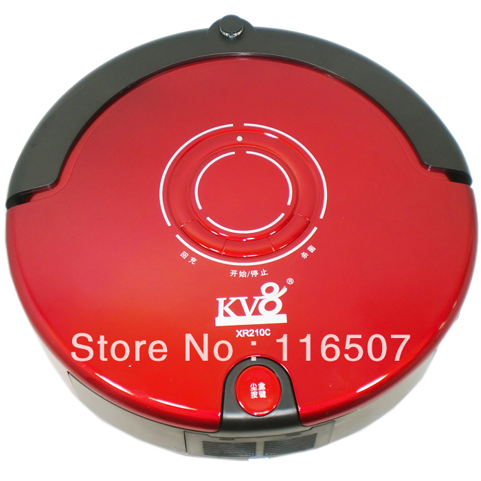 Kv8 robot ultra-thin home smart household mute fully-automatic robot vacuum cleaner mopping the floor machine(China (Mainland))
