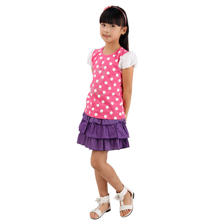 2015 summer new style baby girls fashion skirts little girls polka dot skirts girls mini skirts Q0004(China (Mainland))
