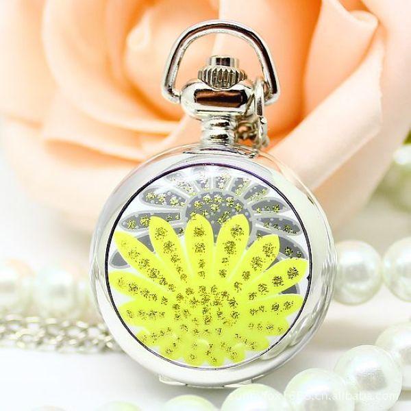 2016 Business Jade Stainless Steel Analog Round Quartz Solar Sale Promotion Reloj Women Watches Sweater Chain Sun Flower Watch(China (Mainland))