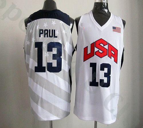 Mens #13 Chris Paul 2012 Olympics Team USA Stitched Cheap Basketball Jerseys- Dark Blue & White(China (Mainland))