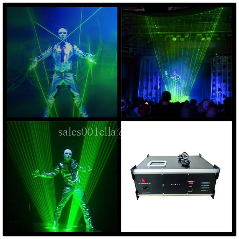 New design 1w Green Laser Stage Light Laserman Show Equipment Laser Man Projector For Party Stage Performance Wedding Nightclub(China (Mainland))