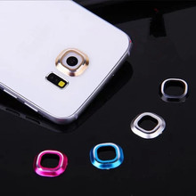 Back Rear Camera Glass Metal Lens Protector Guard Circle Case Cover Mobile Phone Accessories For Samsung Galaxy S6 / Edge  LPS6