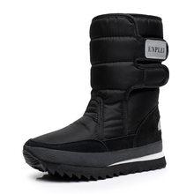VESONAL Mùa Đông 2019 Giữa bắp chân Ủng Nữ Giày Nữ Người Phụ Nữ Ấm Áp 25% len Nhung Sang Trọng Chống Nước Nga Nữ Nền Tảng boot(China)