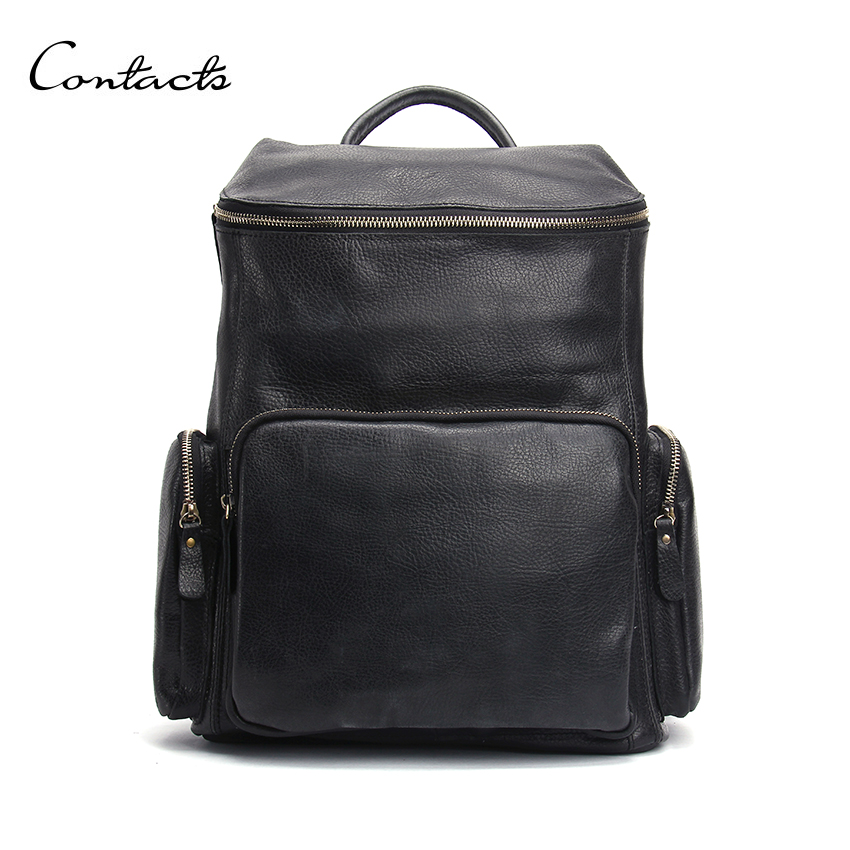 High Quality Real Genuine Leather Backpack Fashion Men Women's Travel Bags School Bag Brand Design Fashion Leather Backpacks(China (Mainland))