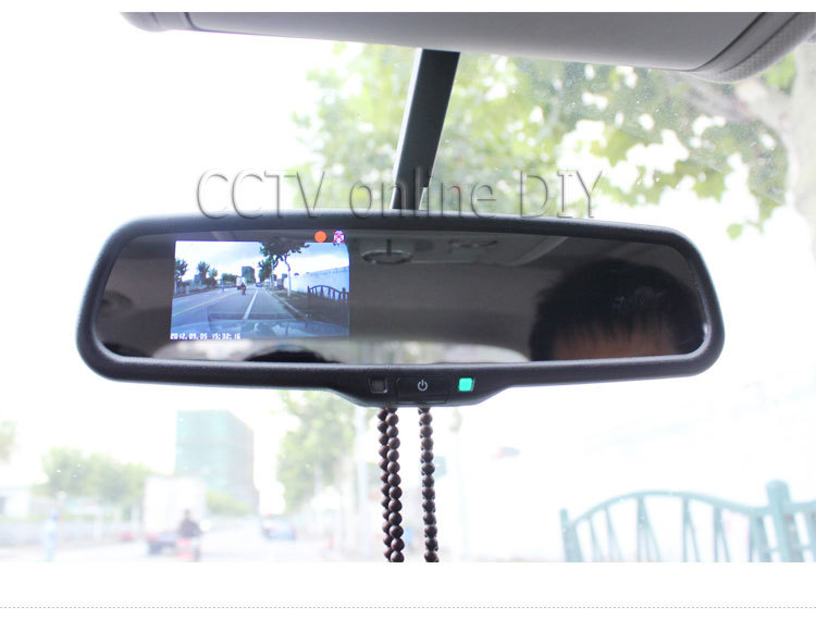 """3.5"""" inch special TFT Car LCD rear View Rearview DVD mirror monitor screen 2CH AV in(China (Mainland))"""