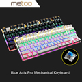 ZERO Advanced Blue Switch Mechanical Keyboard 87 104 Keys Metal Panel LED Backlit Professional Gaming Keyboard