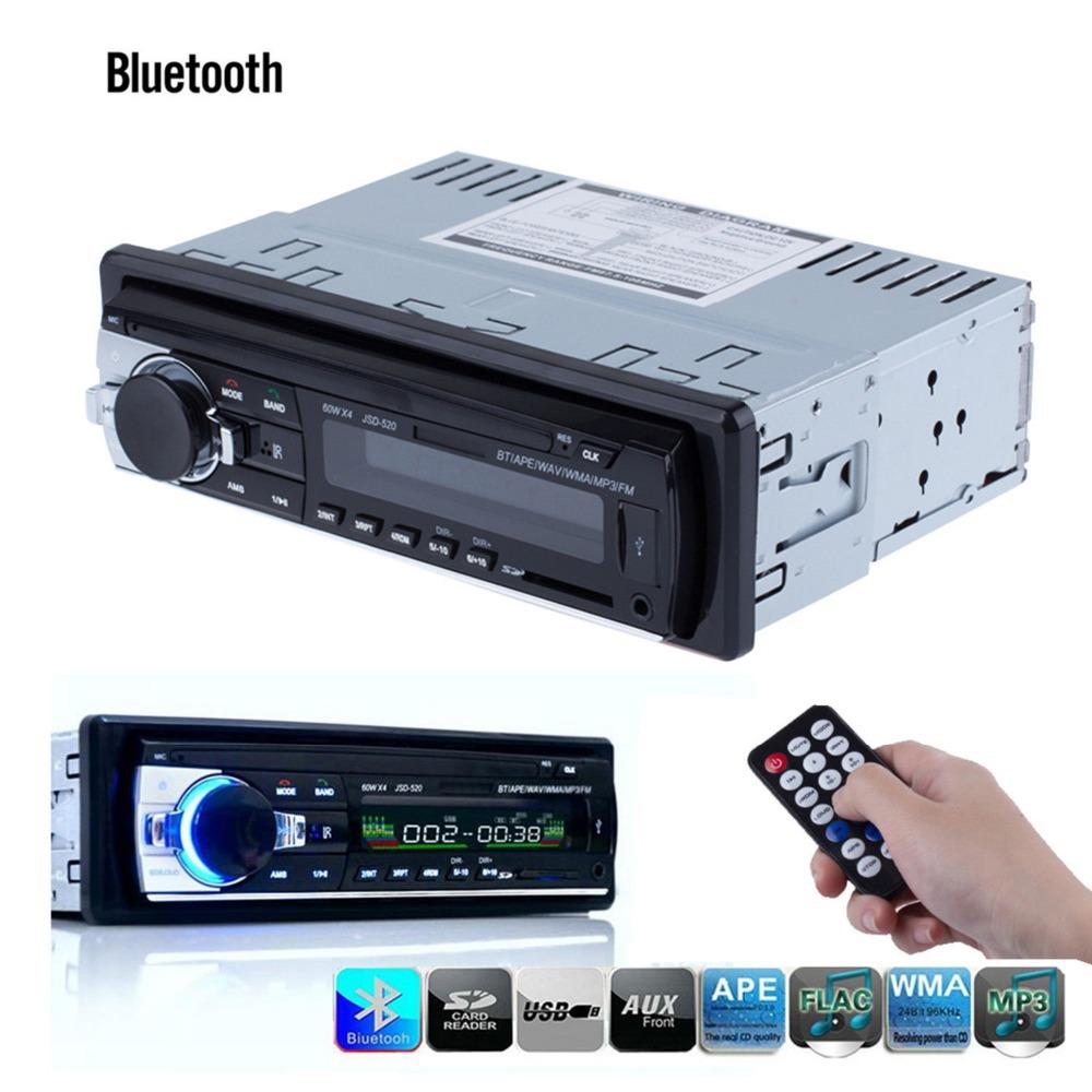Гаджет  Registered 12V Bluetooth V2.0 Car Stereo Audio In-dash Single Din FM Receiver Aux Input Receiver SD USB MP3 MMC WMA Radio Player None Автомобили и Мотоциклы