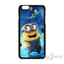 For iphone 4/4s 5/5s 5c SE 6/6s plus ipod touch 4/5/6 back skins cellphone cases cover Despicable Me Minion Happy Running